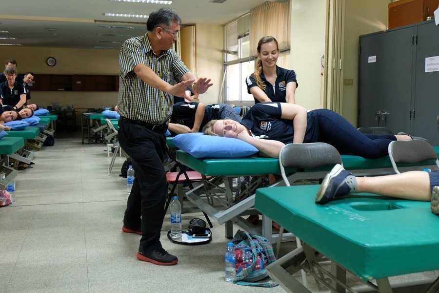 Student working in the health industry in Khon Kaen, Thailand