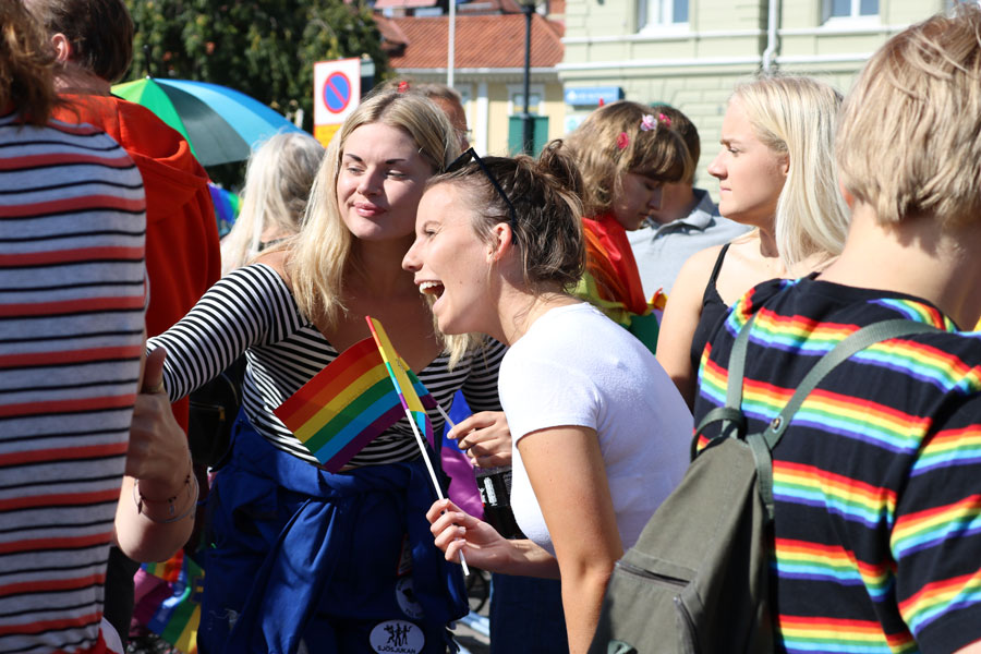 Students attend pride festival in Sweden