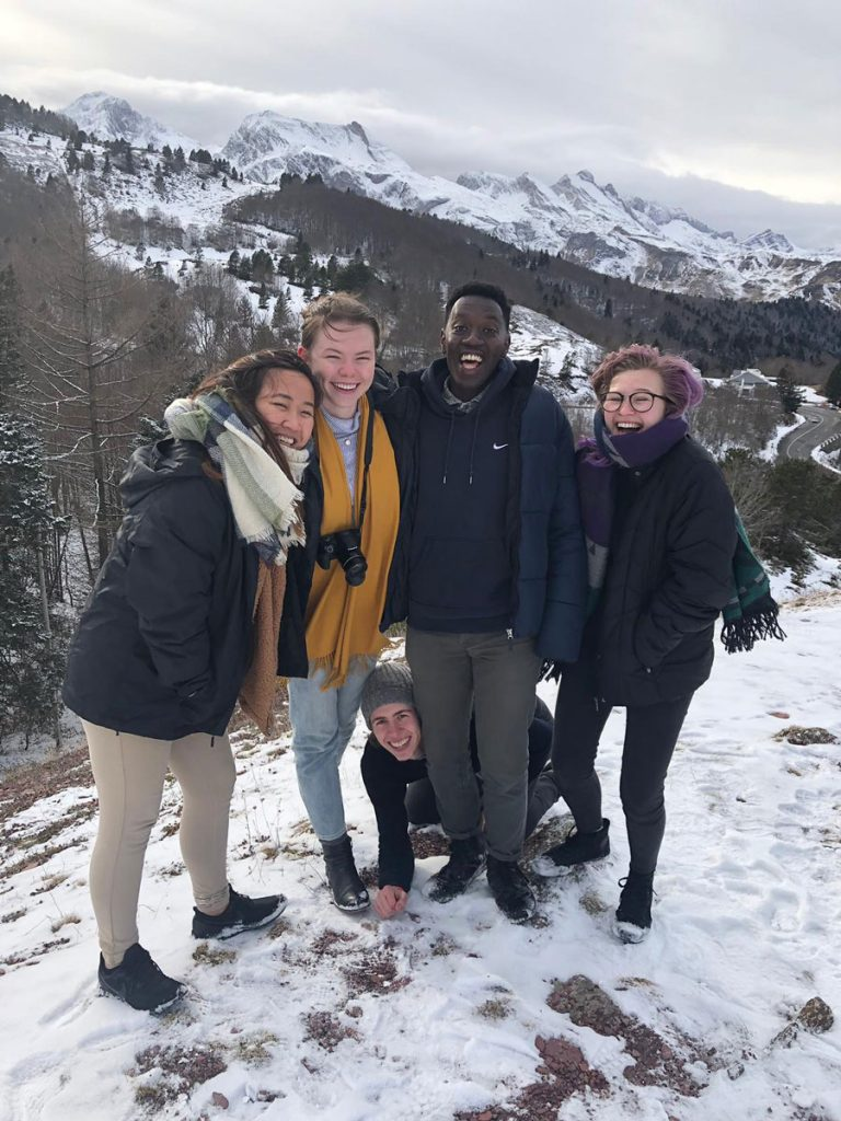 Students in the Pyrenees