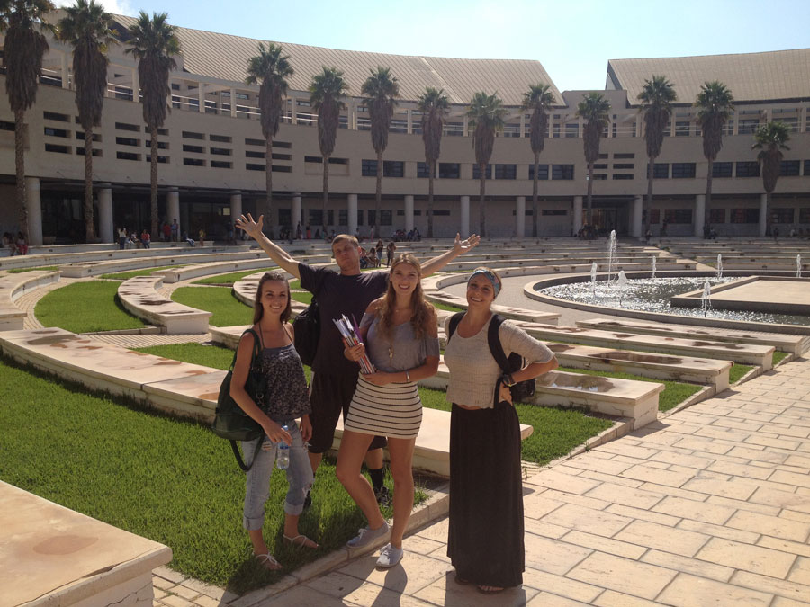 Students on University of Alicante Campus
