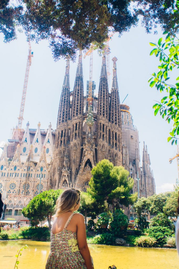 Student at la sagrada in Barcelona on field trip for USAC Alicante study abroad