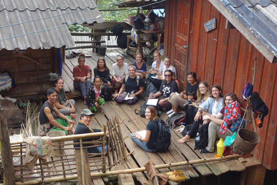 Students participating in the Highland Ethnic Peoples and Social Transformation in Northern Thailand class offered through USAC Chiang Mai study abroad