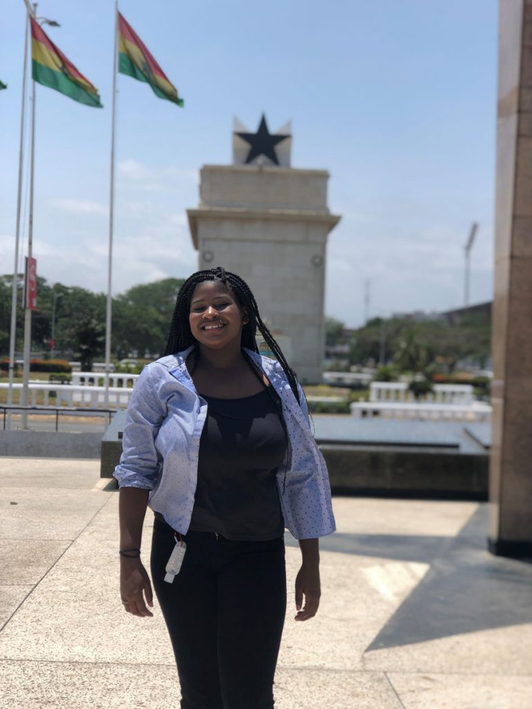 Adilia in Accra during her study abroad in Ghana