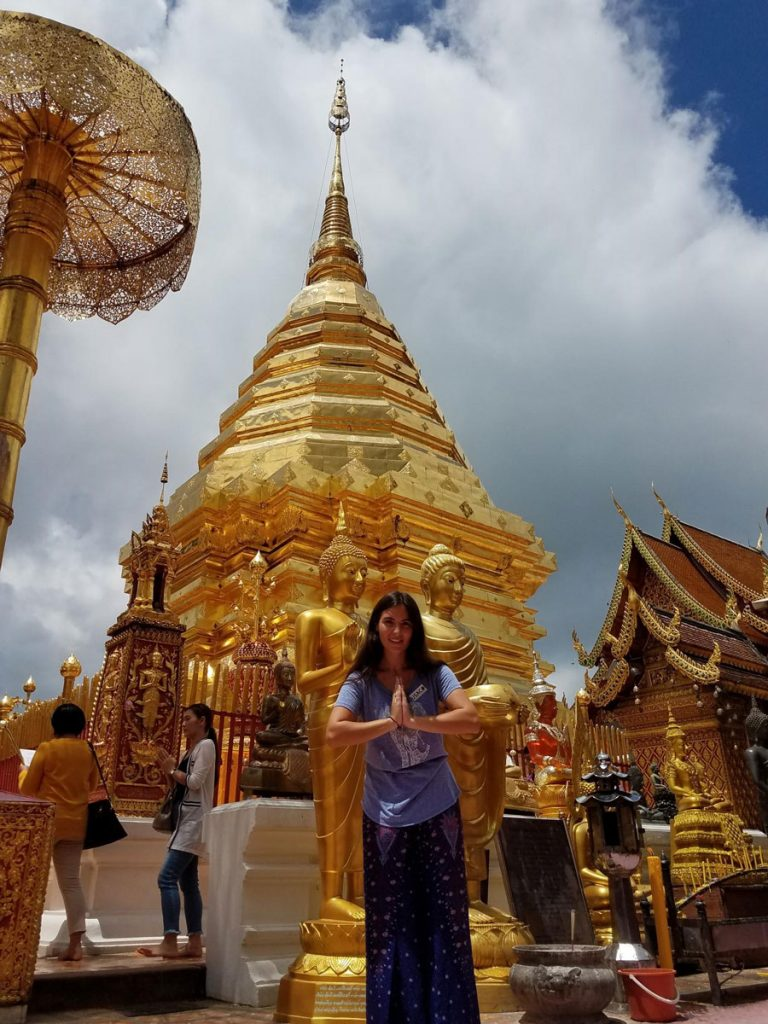 Micaela at Doi Suthep Temple