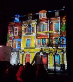 "Guignol sur la colline – ""Punch"" puppet show during Festival of Lights in Lyon, France"