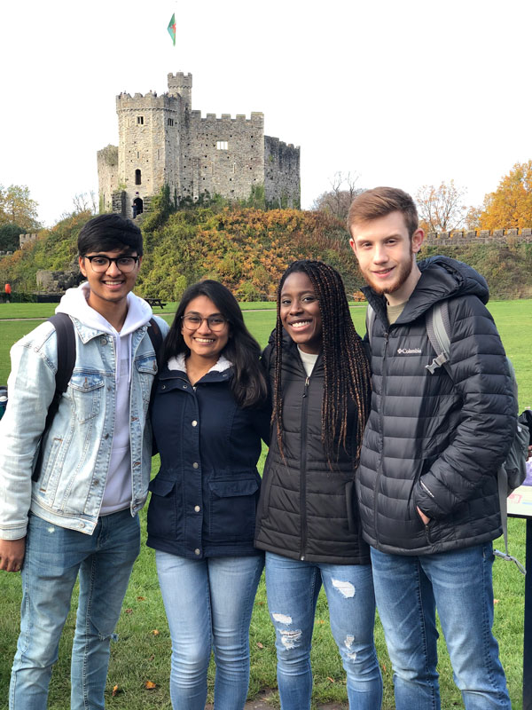 Students traveling in Europe during a study abroad