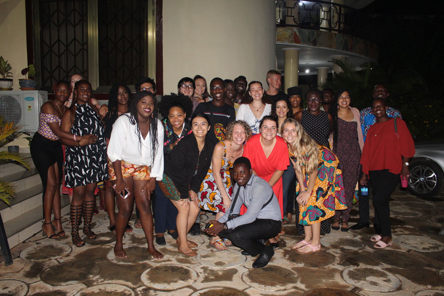 Students studying abroad in Accra, Ghana celebrate Thanksgiving with fellow USAC students