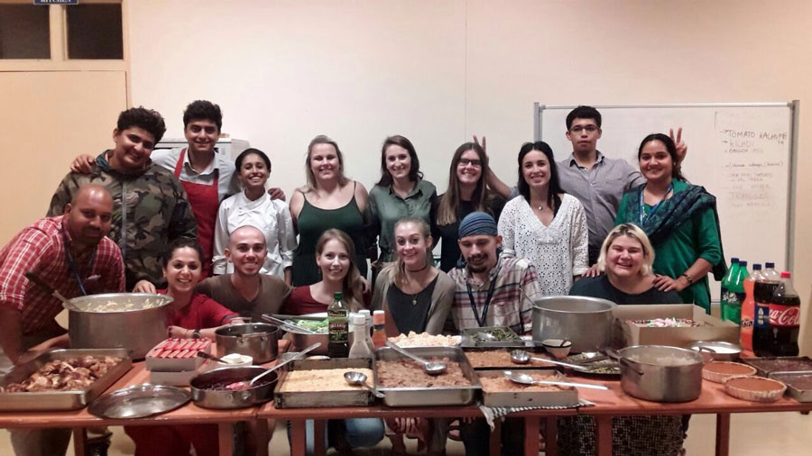 USAC students in Bengaluru, India celebrate Thanksgiving during a study abroad