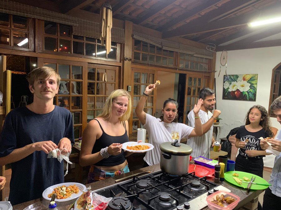 USAC students in Florianpolis, Brazil celebrate Thanksgiving together during their study abroad