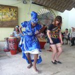 A USAC student learns local Cuban Dance during a study abroad in La Habana, Cuba