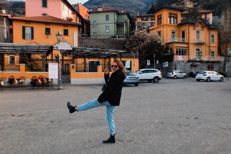 Abigail VanBergen during a travel abroad program in Reggio Emilia with USAC