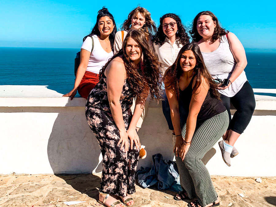 A group of students pose for a picture in San Sebastian, Spain during a study abroad with USAC