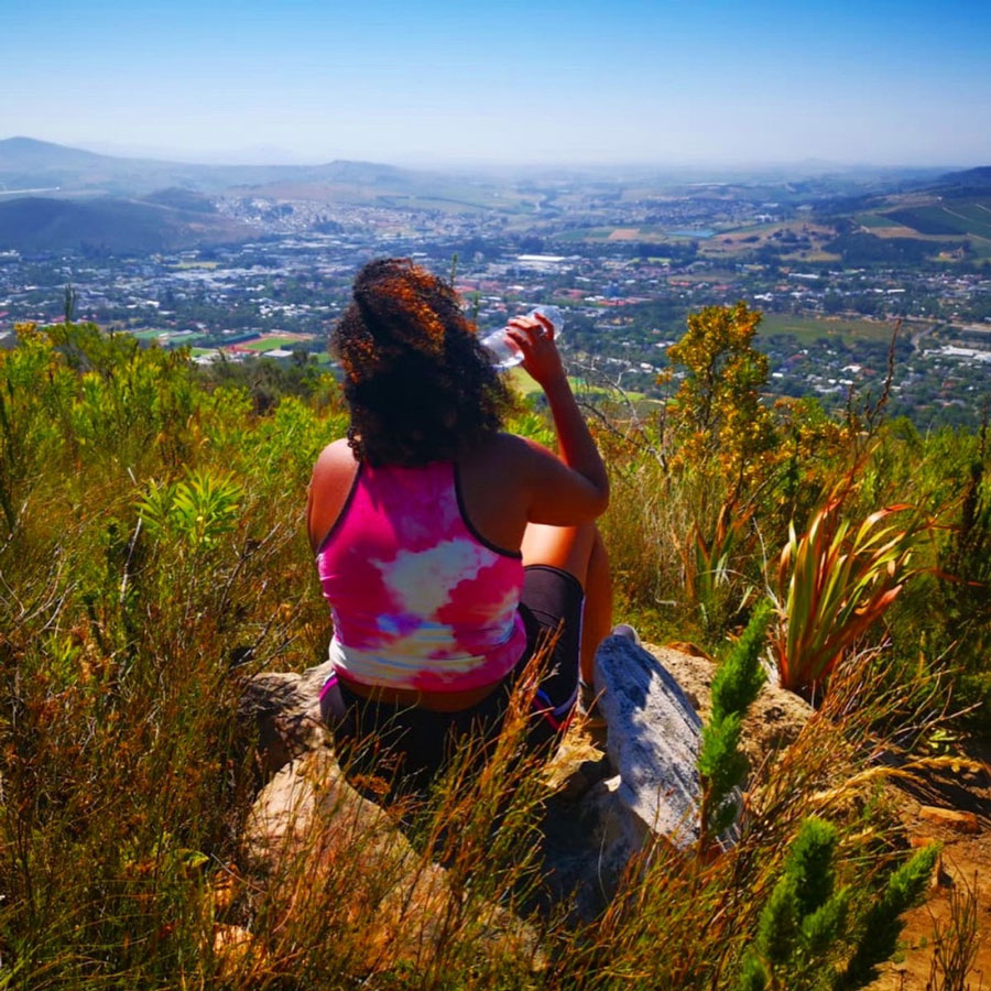 Student in Stellenbosch, South Africa during a study abroad