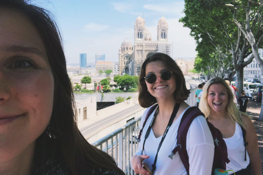 Students exploring France during study abroad in Lyon