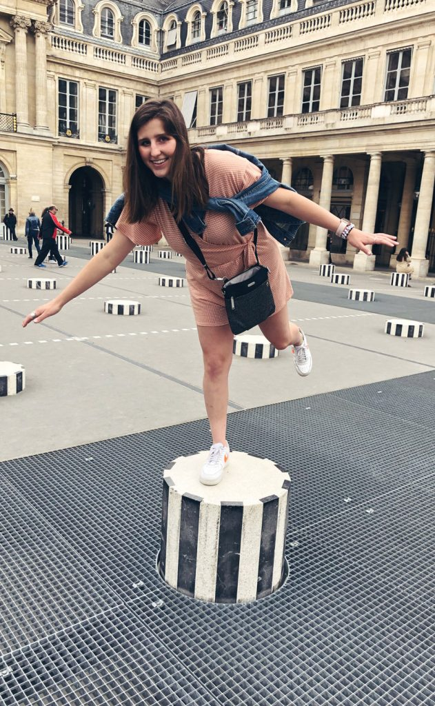 Student having fun during study abroad in France