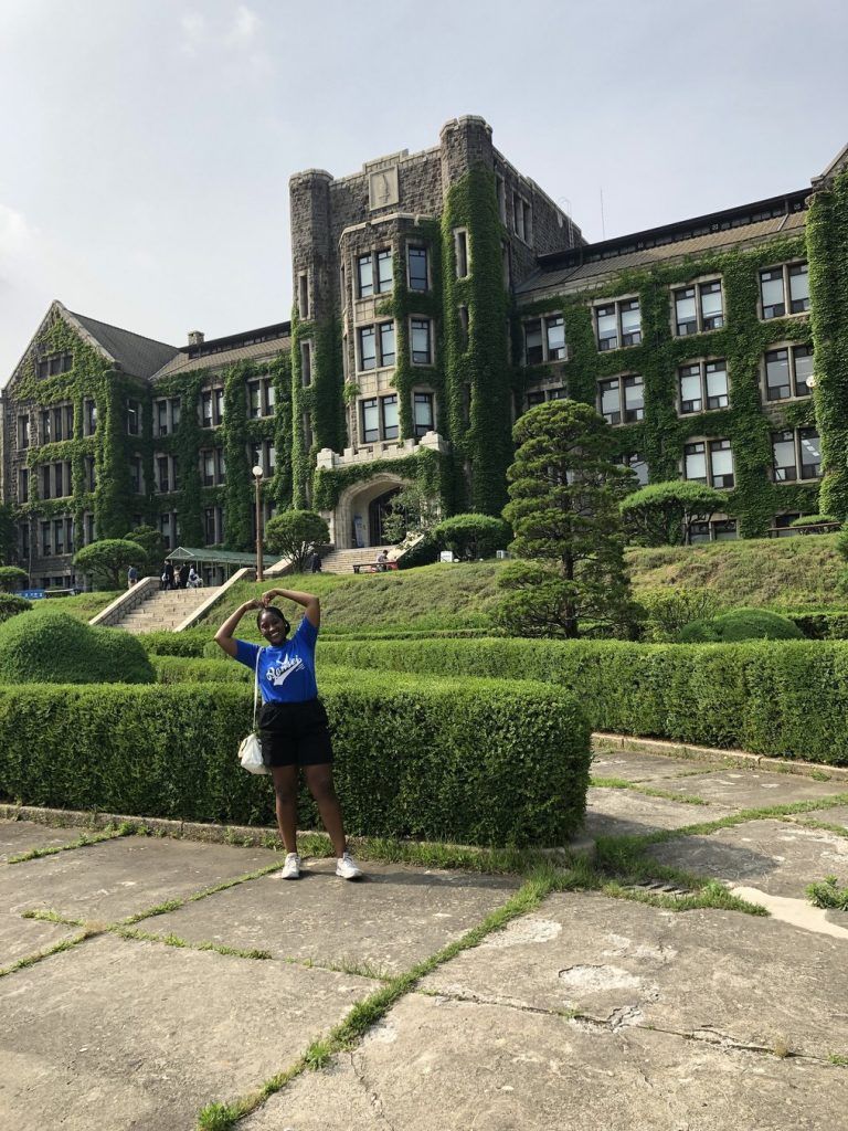 Student during study abroad in Korea with top study abroad organization USAC