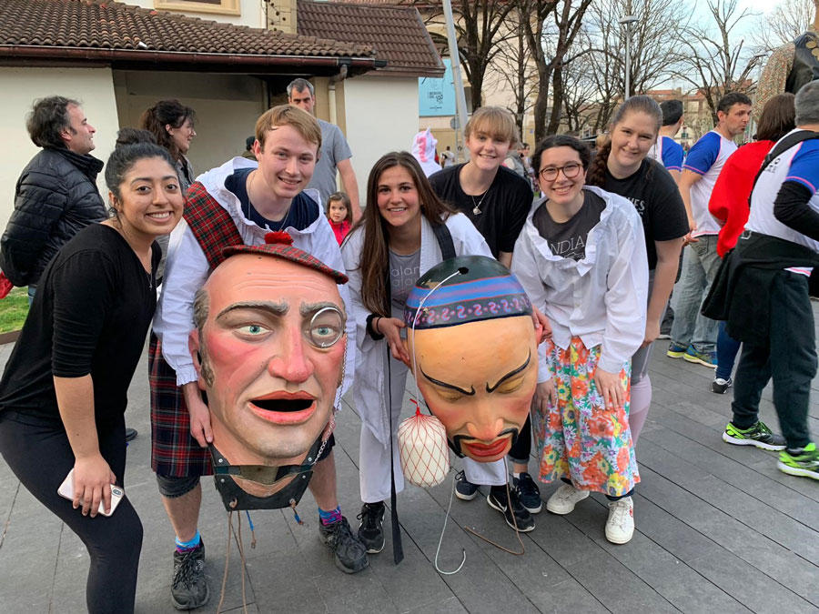 Students attend local festival in San Sebastian during study abroad in Spain with USAC