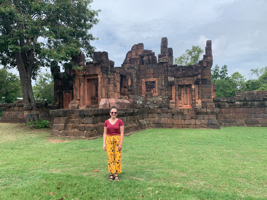 A student on the Isan Field Trip during a study abroad in Khon Kaen