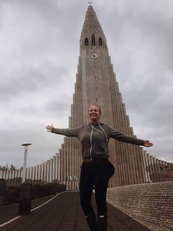 USAC program advisor, Rylie, in Reykjavik, Iceland