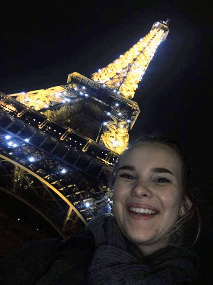 USAC program advisor, Rylie, in Paris, France