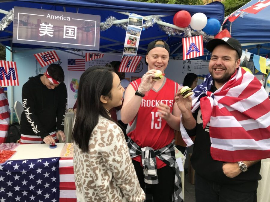 Summer study abroad students during cultural festival in Chengdu, China
