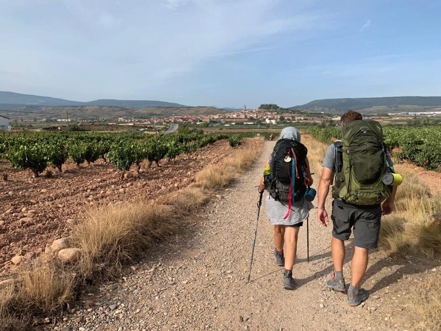 Walking the camino de santiago trail in Spain