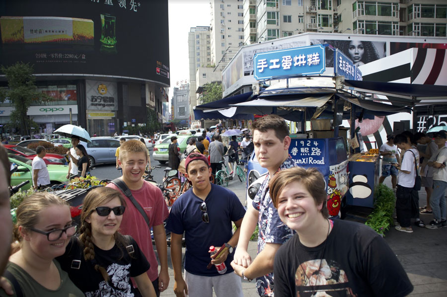 USAC students study abroad in a lesser known study abroad program in Chengdu