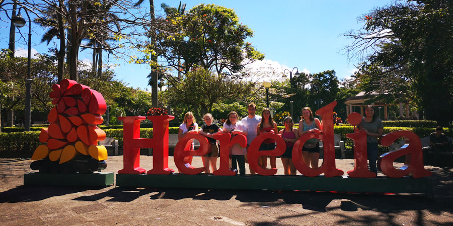 USAC students in Heredia, Costa Rica on study abroad program