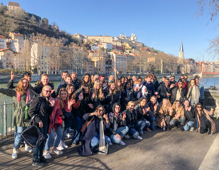USAC students studying in lesser known study abroad program in Lyon, France