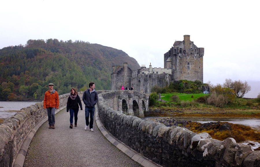 Students on a field trip to the Highlands during