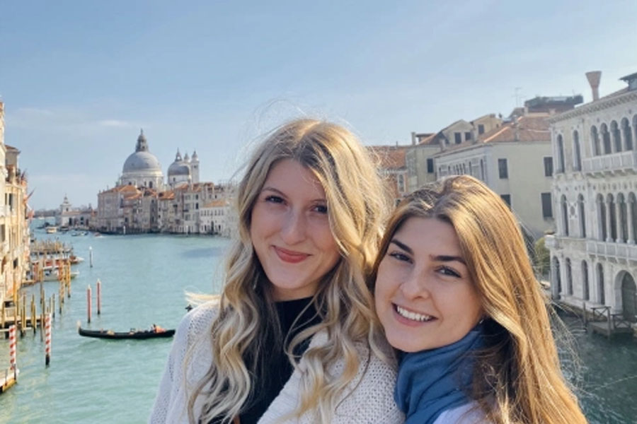 Students studying abroad in Viterbo Italy before coronavirus