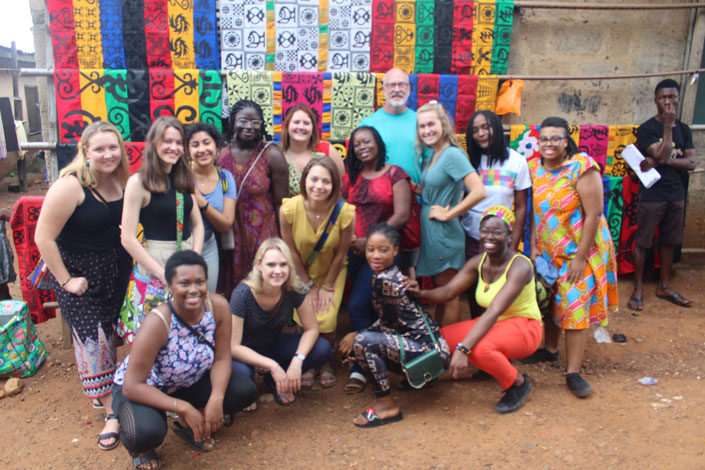 Student studying abroad in Accra, Ghana with USAC