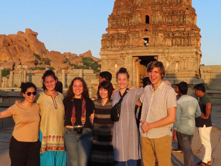 Students on a field trip in India during a study abroad in Bengaluru