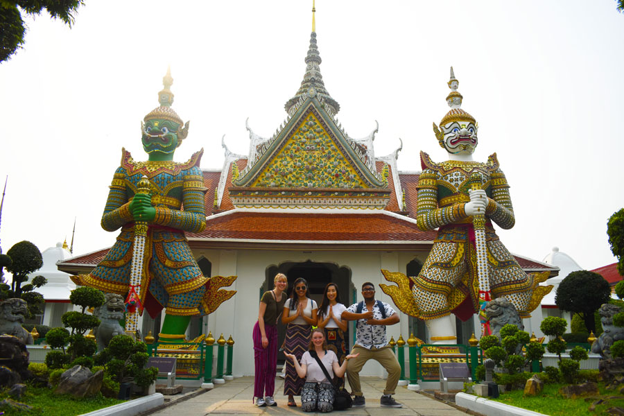 Study abroad students in Khon Kaen Thailand