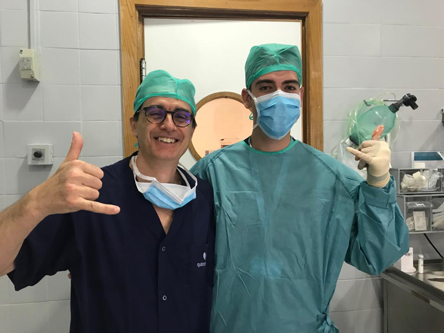 A study abroad student gets experience in his career field interning at a hospital in costa rica