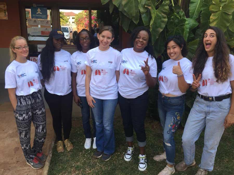 Study abroad students intern at a public health non-GMO