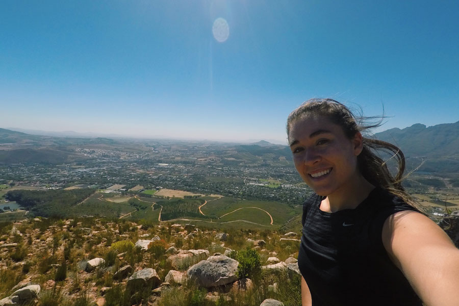 Mary Alice Haas studying in Stellenbosch, South Africa