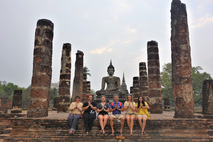 Study abroad students in Chiang Mai, Thailand explore Sukhothai National Park