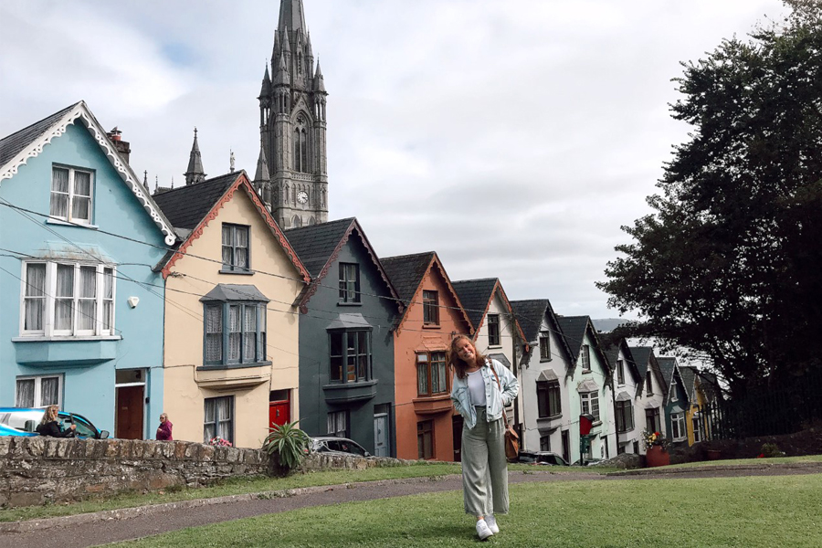 A student studying abroad in Cork, Ireland with USAC