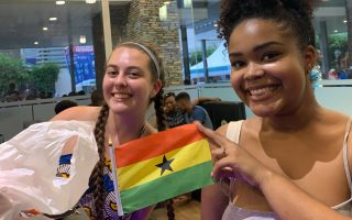 Students studying abroad in Accra, Ghana